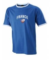 Blauw t-shirt met frankrijk print 10033430
