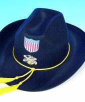 Blauwe amerikaanse soldaten hoed