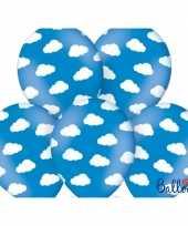 Blauwe ballonnen met wolkjes