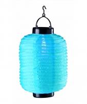 Blauwe chinese lampion op zonne energie