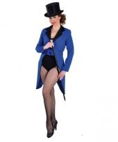 Blauwe circus jas voor dames