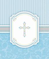 Blauwe communie servetten 33 x 33 cm