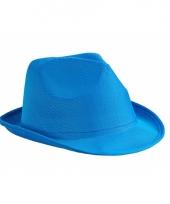Blauwe festival hoedjes