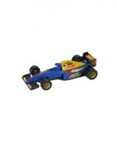 Blauwe formule 1 speelgoed race auto