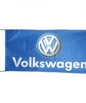 Blauwe garage vlag volkswagen