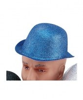 Blauwe glitters bolhoedjes
