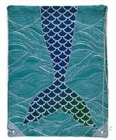 Blauwe golven gymtasje met zeemeerminnen staart