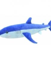 Blauwe haai knuffeltje 40 cm