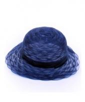Blauwe hoeden van organza stof