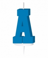 Blauwe letter kaars a