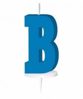 Blauwe letter kaars b