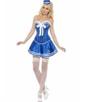 Blauwe matrozen kostuums voor dames