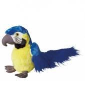 Blauwe papegaai knuffel 30 cm