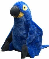 Blauwe papegaai knuffeldieren 76 cm
