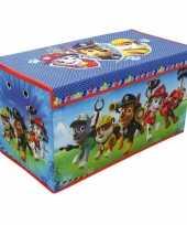 Blauwe paw patrol speelgoed opbergbox 76 cm