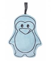 Blauwe pinguin warmteknuffel 20 cm