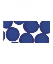 Blauwe ronde mozaiek