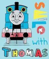Blauwe thomas de trein fleece deken plaid voor jongens