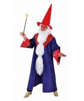 Blauwe tovenaars mantel voor heren