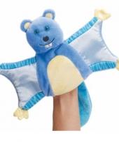 Blauwe vliegende eekhoorn handpop