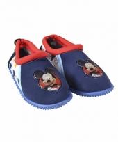 Blauwe waterschoenen van mickey mouse