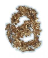 Bloemen guirlande goud 2 meter