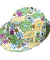 Bloemen hoedje met pailletten