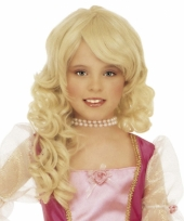 Blonde diva pruik