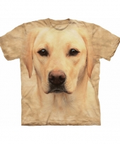 Blonde lab face shirt the mountain