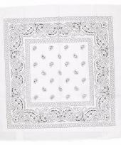 Boerenzakdoek wit 55 x 55 cm