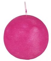 Bol kaars roze 8 cm