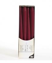 Bordeaux versiering kaarsen 25 cm