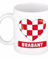 Brabantse vlag hartje koffiemok 300 ml