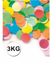 Brandvertragend confetti zakken van 3 kilo multicolor