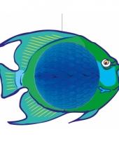 Brandvertragende versiering blauwe vis 28 x 40 cm