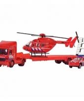 Brandweer blushelikopter 3 delige set 26 cm