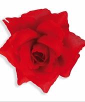 Broche van rode rozen