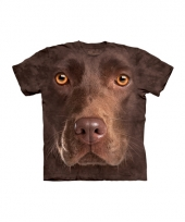 Brown lab face shirt the mountain