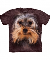 Brown yorkshire terrier face shirt the mountain