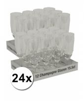 Bruiloft champagne glazen 24 st