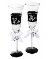 Bruiloft champagneglazen 24 cm