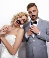 Bruiloft foto prop snorren 6x