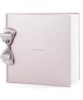 Bruiloft gastenboek parel roze