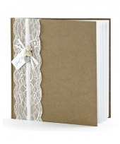 Bruiloft gastenboek vintage 20 5 cm