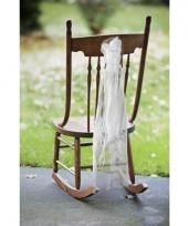 Bruiloft stoel decoratie met organza