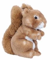 Bruin knuffel eekhoorntje 20 cm
