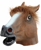 Bruin paarden masker van rubber