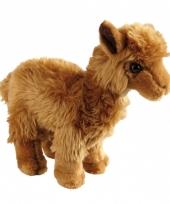 Bruine alpaca knuffel 20 cm