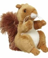 Bruine eekhoorn knuffel 11 cm