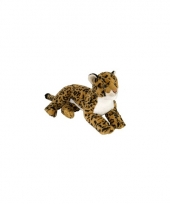Bruine luipaard knuffel liggend 40 cm